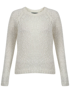 Womens Amara Reya Tulip Cream Crew Neck Jumper