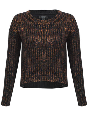 Womens Amara Reya Peach Blossom Crew Neck Jumper in Anthracite