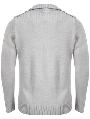 Benzini Hall Funnel Neck Cardigan in Grey