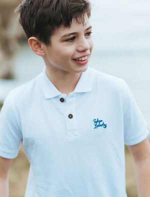 Boys K-Florenzi Polo Shirt in Optic White – Tokyo Laundry Kids