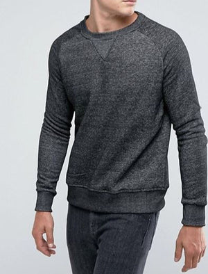 Enricho Crew Neck Sweatshirt in Black