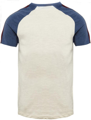 Fox Baseball Short Sleeve Raglan T-Shirt in Egg Shell