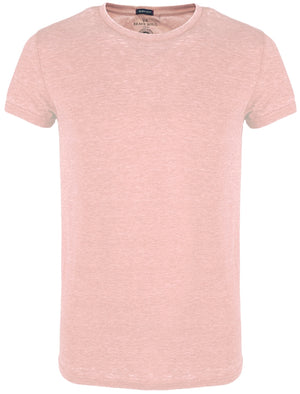 GonzaloB Crew Neck Burn Out T-Shirt in Pink