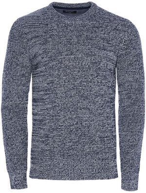 Hank Crew Neck Knitted Jumper in Navy