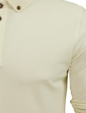 Howell Long Sleeve Polo Shirt in Ivory