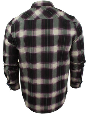 Impala Cotton Flannel Checked Shirt in Wine
