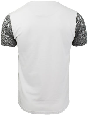 Indra Oriental Dragon Printed T-Shirt with Chest Pocket in White – Brave Soul