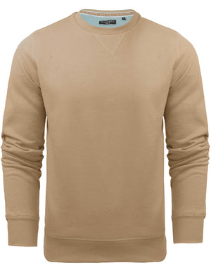 JonesQ Crew Neck Sweatshirt in Light Stone