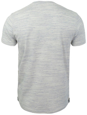 Petrak Space Dye Henley T-Shirt in Blue / Ivory