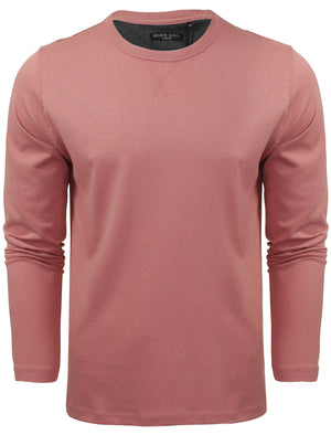 PragueD Long Sleeve Cotton Jersey Top in Pink