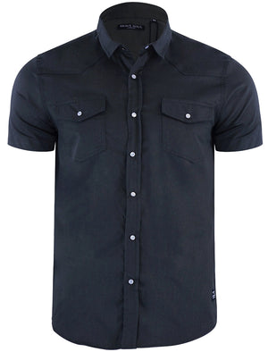Romer Short Sleeve Shirt with Military Pockets in Navy