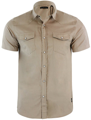 Romer Short Sleeve Shirt with Military Pockets in Stone