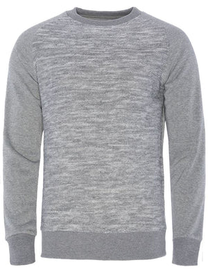 Sampson Knitted Sweatshirt with Raglan Sleeves in Light Grey