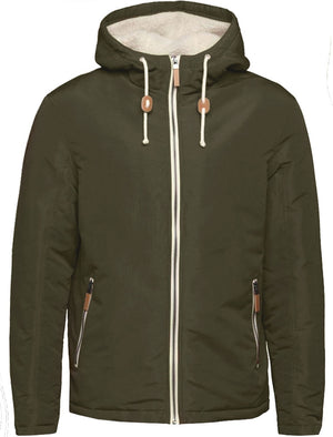 Skagen PKA Hooded Windbreaker Jacket in Khaki