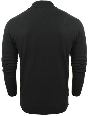 Turtle High Neck Cotton Knitted Jumper in Black