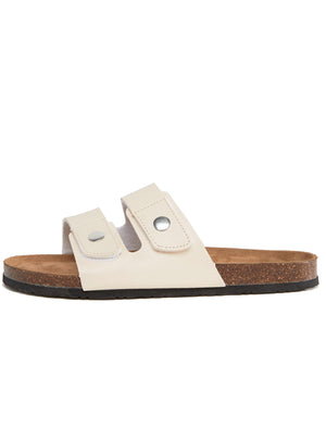 Woods Double Strap Sandals in White