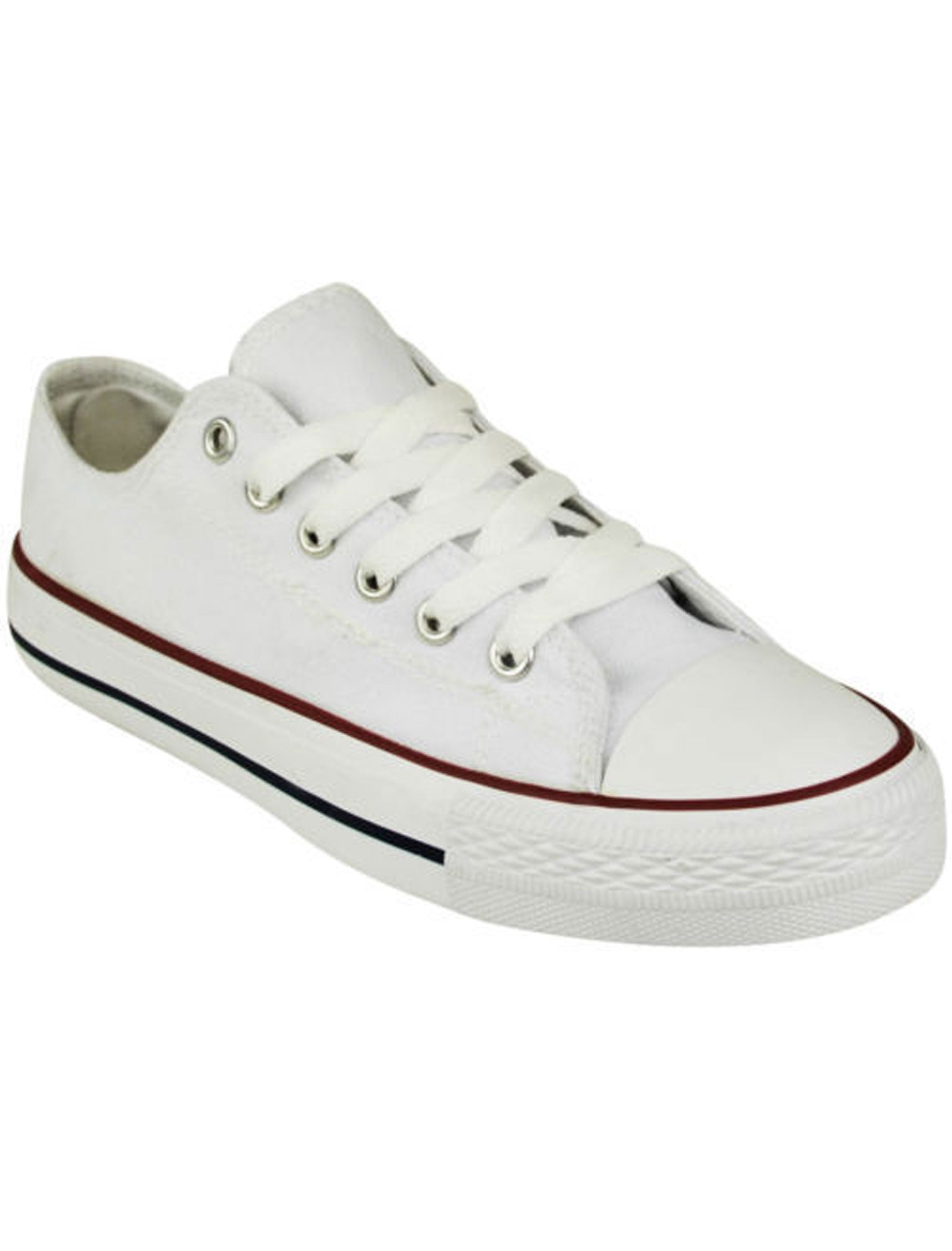 Tokyo Laundry Shoes Ladies canvas lace up plimsolls in white / UK 3