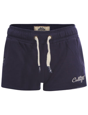 Women's College jogger shorts in navy