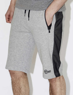 Men's zip pockets grey sweat shorts - Dissident