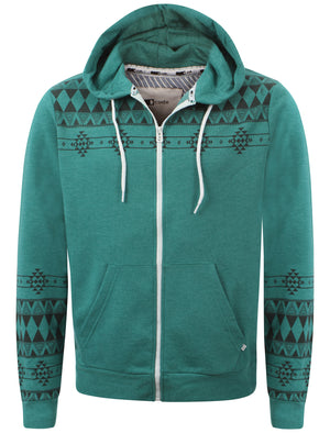 Peacock Green Marl  D-Code Fred zip up hoodie