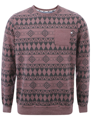 D-Code Jude crew neck sweatshirt in Plum Marl