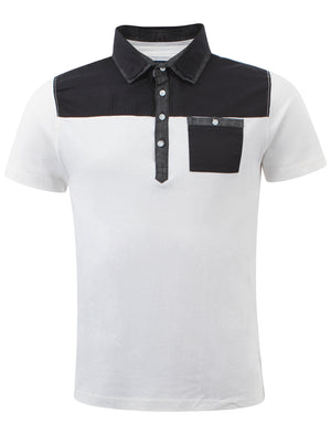 Bartlow cotton polo shirt in white - D-Code