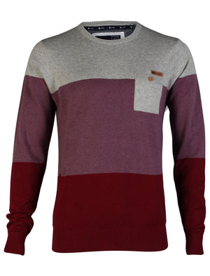 D-Code Darrell Knitted Jumper in Red
