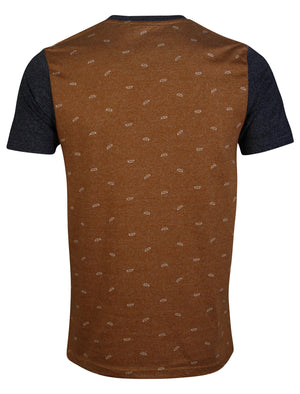 D-Code Oxford Crew Neck T-Shirt in Acorn