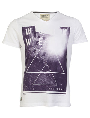 Dissident Workwear T-Shirt in Optic White