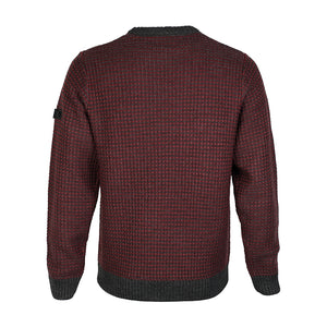 Dissident Austin crew neck jumper in Red Mahogany