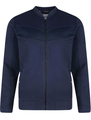 Bridport Zip Up Jacket in True Navy - Dissident