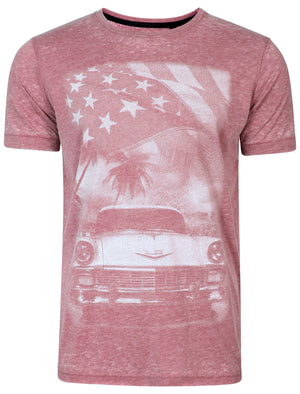 Carburn Burnout T-Shirt in Bordeaux - Dissident