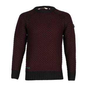 Dissident Jago raglan textured jumper in red