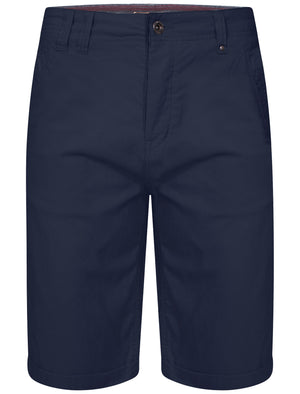 Luther Corduroy Turnup Hem Shorts in Midnight Blue - Dissident