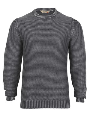 Mens Dissident Nile acid black wash jumper