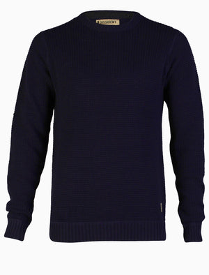 Dissident Pitvil Knitted Jumper in Blue