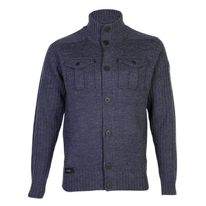 Dissident Steven military cardigan in blue jacket