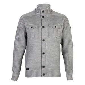 Dissident Steven military cardigan in grey jacket