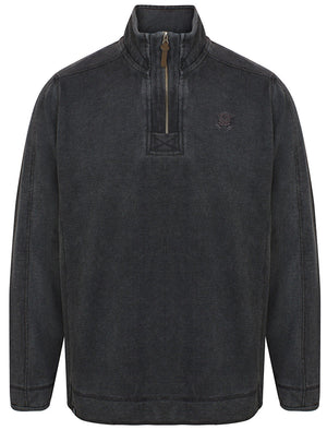 Darnley Pique Pullover Hoodie in Charcoal - Kensington Eastside