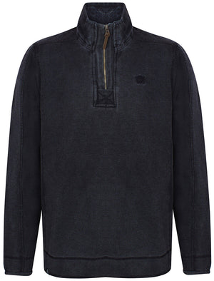 Darnley Pique Pullover Hoodie in Dark Navy - Kensington Eastside