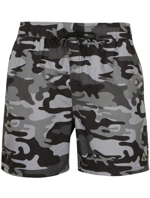 Gildart Camo Print Swim Shorts in Grey – Dissident