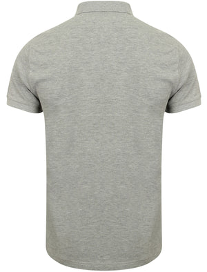 Dunraven Cotton Pique Polo Shirt in Light Grey Marl - Dissident