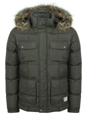 Padded Parka Coat with detachable fur and hood - Dissident