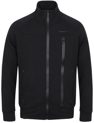 Amago Funnel Neck Zip Through Hoodie In Black – Dissident