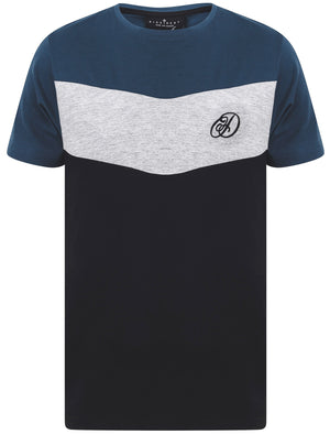 Baller Colour Block Cotton Jersey T-Shirt in Sargasso Blue – Dissident