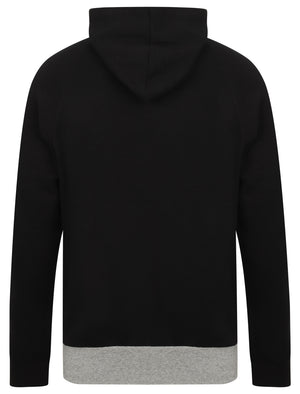Ban Colour Block Brush Back Fleece Pullover Hoodie In Jet Black – Dissident