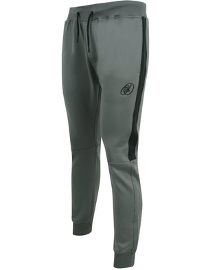 Banks Tricot Cuffed Tracksuit Joggers with Side Panel In Quiet Shade Grey – Dissident