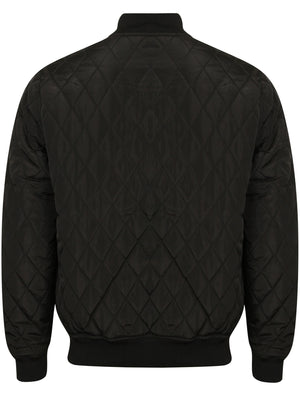 Barnes Diamond Quilted Bomber Jacket In Black – Dissident