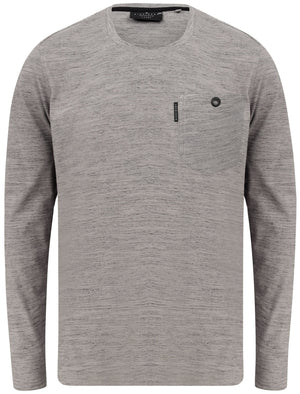 Basin Cotton Jersey Long Sleeve Top with Chest Pocket In Frost Gray - Dissident