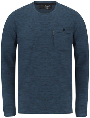 Basin Cotton Jersey Long Sleeve Top with Chest Pocket In Sargasso Blue - Dissident